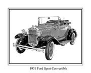Mercedes Prints - 1931 Ford Convertible Print by Jack Pumphrey