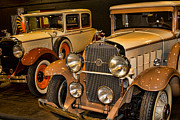 1929 Roadster Prints - 1931 La Salle Series 345r and 1929 Packard Roadster Print by Douglas Barnard