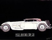 Coupe Drawings Originals - 1932 Bucciali TAV 30 by Dan Poll