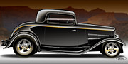 Old Car Digital Art - 1932 Ford Coupe by Alexandre Uchino