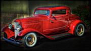 Ford Coupe Posters - 1932 Ford Coupe  Poster by Saija  Lehtonen