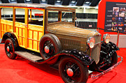 Transportation Photo Prints - 1932 Ford Model B-150 Station Wagon Print by Wingsdomain Art and Photography