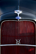 Classic Ford Roadster Framed Prints - 1932 Ford Roadster Grille 2 Framed Print by Jill Reger