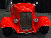 Classic Ford Roadster Framed Prints - 1932 Ford Roadster . Red . 7D9286 Framed Print by Wingsdomain Art and Photography