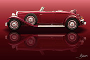 Custom Automobile Digital Art - 1932 Packard 904 Roadster by Alain Jamar