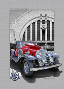 Out Of Bounds Acrylic Prints - 1932 Stutz DV32 Bearcat Acrylic Print by Roger Beltz