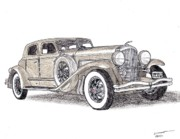 Sports Art Drawings Originals - 1933 Duesenberg SJ by Dan Poll