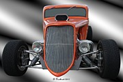 Street Rod Art - 1933 Ford Roadster - Hotrod Version Of Scream by Betty Northcutt