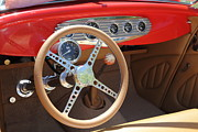 Classic Ford Roadster Framed Prints - 1933 Ford Roadster Steering Wheel and Dashboard . 5D16242 Framed Print by Wingsdomain Art and Photography