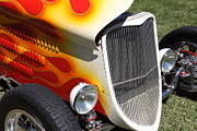 Ford Roadster Posters - 1933 Ford Roadster With Flames . 5D16237 Poster by Wingsdomain Art and Photography
