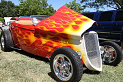 Classic Ford Roadster Prints - 1933 Ford Roadster With Flames . 5D16240 Print by Wingsdomain Art and Photography