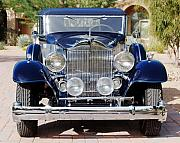 Front View Art - 1933 Packard 12 Convertible Coupe by Jill Reger