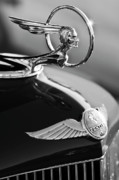 Vintage Hood Ornament Photo Framed Prints - 1933 Pontiac Hood Ornament 4 Framed Print by Jill Reger