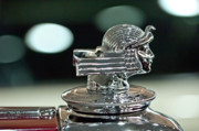 Hoodies Photos - 1933 Stutz DV-32 Dual Cowl Phaeton Hood Ornament by Jill Reger