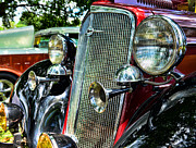 Bow Tie Prints - 1934 Chevrolet Head Lights Print by Paul Ward