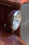 Truck Detail Prints - 1934 Ford Headlight and Grill Print by Bob Christopher