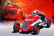 Indy Car Framed Prints - 1934 Ford Indy Special Framed Print by Stuart Row