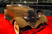 Domestic Cars Prints - 1934 Ford Model 40 Deluxe Cabriolet Print by Wingsdomain Art and Photography