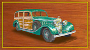 Framed Art Paintings - 1934 HispanoSuzia Shooting Brake by Jack Pumphrey