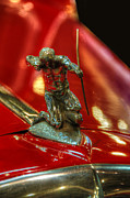 Limousine Prints - 1934 Pierce Arrow Enclosed Drive Limousine Hood Ornament Print by Ken Smith