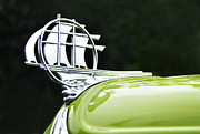 Sailing Ship Prints - 1934 Plymouth - Hood Ornament Print by Kaye Menner