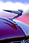 Hoodie Framed Prints - 1935 Auburn Hood Ornament 4 Framed Print by Jill Reger