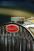 Bugatti Vintage Car Photos - 1935 Bugatti type 57 Grand Raid Roadster Emblem by Jill Reger