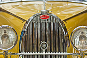 Roadster Photo Framed Prints - 1935 Bugatti Type 57 Roadster Grille Framed Print by Jill Reger