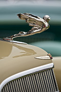 Classic Car Photography Posters - 1935 Cadillac Convertible Hood Ornament Poster by Jill Reger