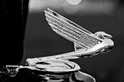 Car Abstracts Photo Posters - 1935 Chevrolet Hood Ornament 4 Poster by Jill Reger