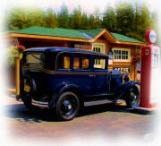 Vacation Digital Art Prints - 1935 Chevy Print by Garry Staranchuk