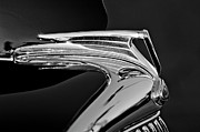 Car Abstracts Photo Posters - 1935 Ford V8 Hood Ornament 5 Poster by Jill Reger