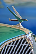 1935 Prints - 1935 Hudson Touring Sedan Hood Ornament Print by Jill Reger