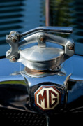 Hoodies Photo Framed Prints - 1935 MG NA Magnette Hood Ornament Framed Print by Jill Reger