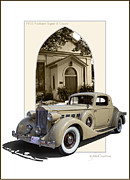 Autoart Prints - 1935 Packard Super Eight Print by Roger Beltz