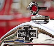 Car Mascot Metal Prints - 1936 American LaFrance Fire Truck Hood Ornament Metal Print by Jill Reger