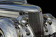 Stainless Steel Framed Prints - 1936 Ford - Stainless Steel Body Framed Print by Jill Reger