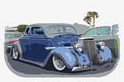 Ford Lowrider Prints - 1936 Ford Coupe Print by Steve McKinzie