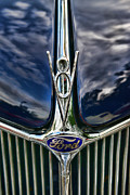 Ford V8 Prints - 1936 Ford Phaeton Hood Ornament Print by Paul Ward