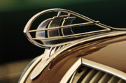 Car Mascot Metal Prints - 1936 Plymouth Sedan Hood Ornament Metal Print by Jill Reger