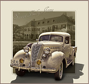 Cincinnati Digital Art Framed Prints - 1936 Terraplane Express Cab Truck  Framed Print by Roger Beltz