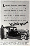 Buick Grill Posters - 1937 Buick Poster by Nomad Art And  Design