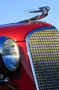 Automobile Abstract Photography Prints - 1937 Cadillac V8 Hood Ornament 2 Print by Jill Reger