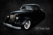 Two Door Mixed Media Prints - 1937 Dodge Coupe  Print by Anne Kitzman