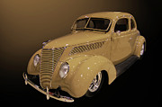 Pomona Posters - 1937 Ford Coupe Poster by Bill Dutting