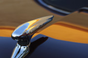 Historic Vehicle Photo Prints - 1937 Ford Hood Ornament 3 Print by Jill Reger