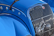 Jill Reger Prints - 1937 Peugeot 402 Darlmat Legere Special Sport Roadster Recreation Grille Emblem Print by Jill Reger