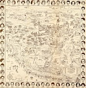 Movie Stars Photos - 1937 Pictorial Map Hollywood Starland by Everett