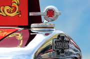 Historic Vehicle Photo Prints - 1938 American LaFrance Fire Truck Hood Ornament Print by Jill Reger