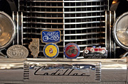 Presidential Photos Metal Prints - 1938 Cadillac V-16 Presidential Convertible Parade Limousine Grille Badges Metal Print by Jill Reger